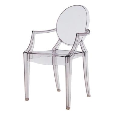 ROYAL Chaise transparente grise