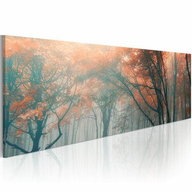 BROUILLARD D'AUTOMNE Tableau sur toile 120x40 cm