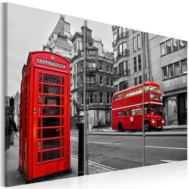 LA VIE À LONDRES Tableau sur toile 120x80 cm