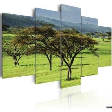 AFRIQUE VERTE Peinture sur toile 200x100 cm