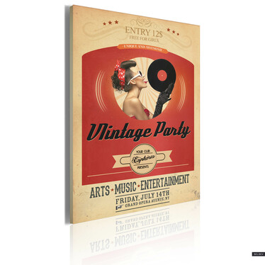 VINTAGE PARTY Tableau 50x70 cm