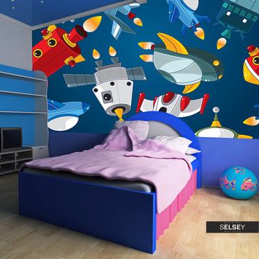 Papiers peint enfant - véhicules spatiaux 300x231 cm
