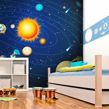 Papiers peint enfant - système solaire 200x154 cm