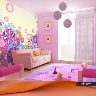 Papiers peint enfant - fleurs 400x309 cm