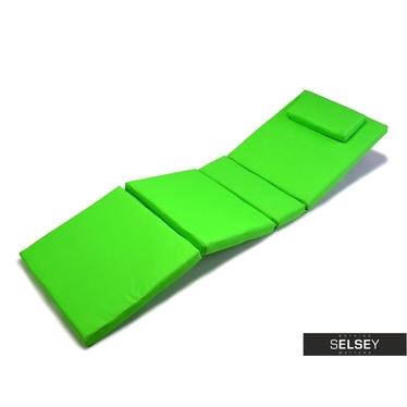 Coussin bain de soleil vert