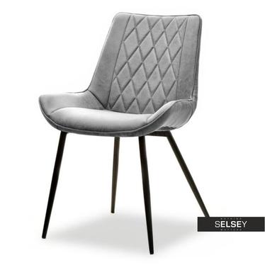ADEL Chaise vintage gris / noir