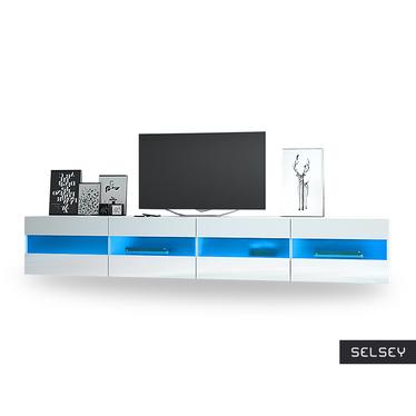 BRICO DOUBLE Meuble TV suspendu avec LED 2x100 cm