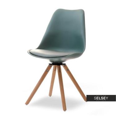 LUIS ROT Chaise pivotante vert sarcelle