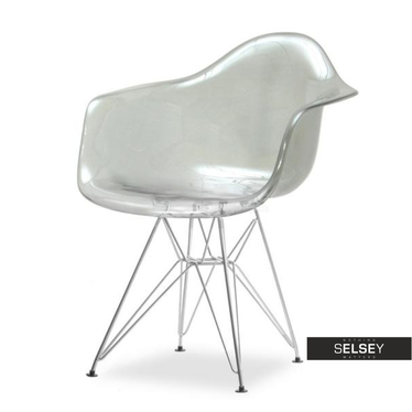 MPA ROD Chaise transparente fumée