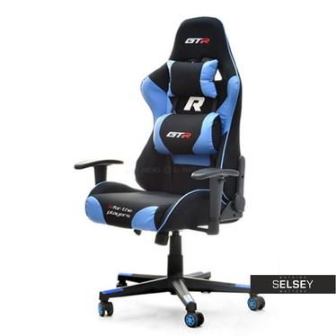 RACER GTR Chaise gamer racing style noir / turquoise