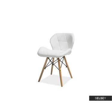 TEINE Chaise matelassée blanche