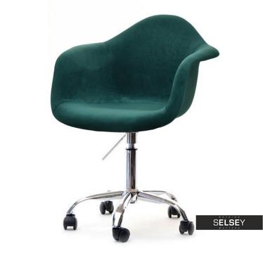 MPA MOVE TAP Chaise pivotante en velours vert