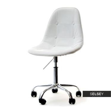MPC MOVE TAP Chaise pivotante blanche piquée