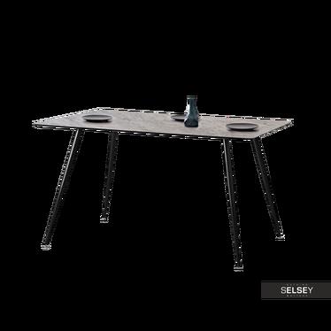 ONÉCA Table industrielle 120x80 cm effet béton