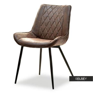 ADEL Chaise vintage brun / noir