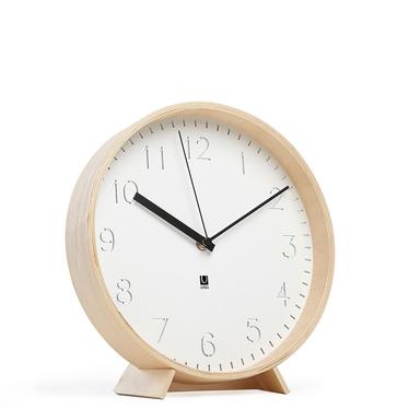 RIMWOOD Horloge blanc / bois naturel
