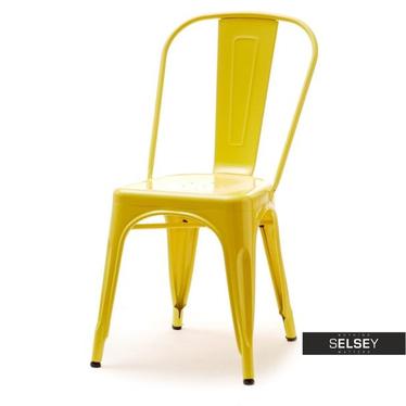 ALFREDO 1 Chaise en métal jaune