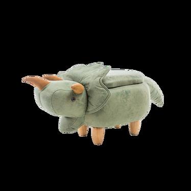 DINOSAURE Tabouret enfant avec rangement vert