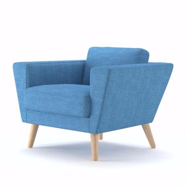 ATLA Fauteuil scandinave bleu