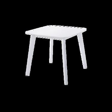 CLARKE Table carrée 80x80 cm blanche