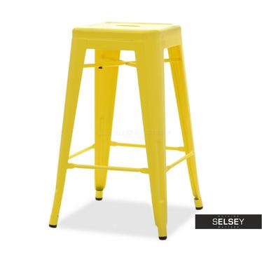 ALFREDO STOOL 2 Tabouret de bar en métal jaune