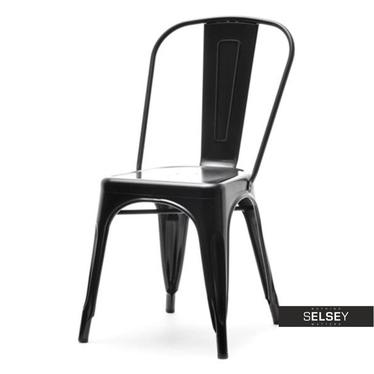 ALFREDO 1 Chaise en métal noire