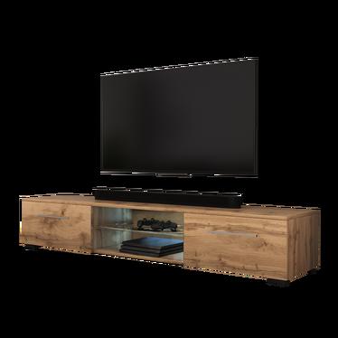 EDITH Meuble TV LED 140 cm
