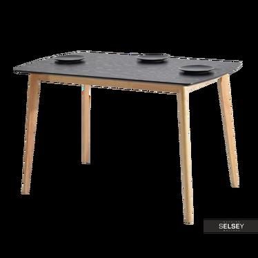 BELEN Table 120x75 cm noir / chêne