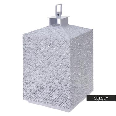 Lanterne métal blanche 31 cm