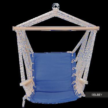 MODERN Fauteuil suspendu bleu avec accoudoirs
