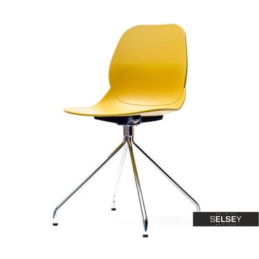 LEAF ROD Chaise jaune pieds acier