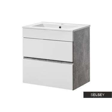 PUEBLA Meuble sous lavabo 2 tiroirs 60 cm