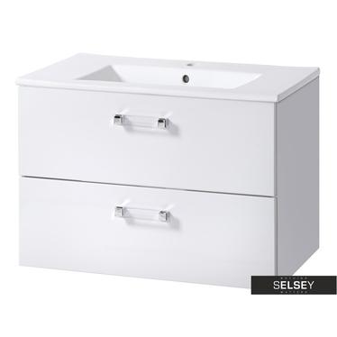 MERCADO Meuble sous lavabo blanc 80 cm