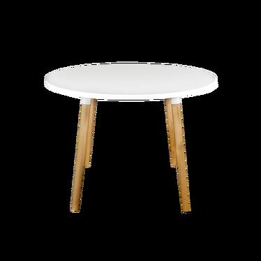 COPINE Table à manger ronde blanche 100 cm
