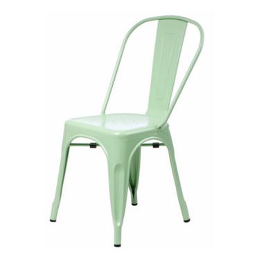 PARIS Chaise en métal verte