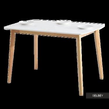 BELEN Table 120x75 cm blanc / chêne