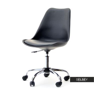 LOUIS MOVE Chaise de bureau noire
