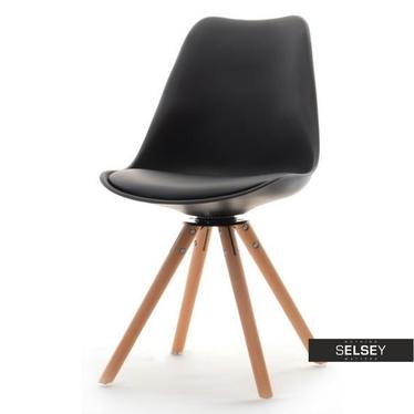 LUIS ROT Chaise pivotante noire