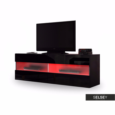 BRICO Meuble TV suspendu avec LED 100 cm