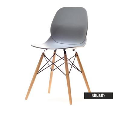 LEAF BOIS Chaise grise