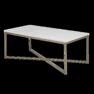 ALISMA Table basse 120x60 cm - base dorée