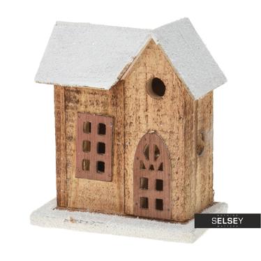 Maisonnette en bois avec LED 15 cm