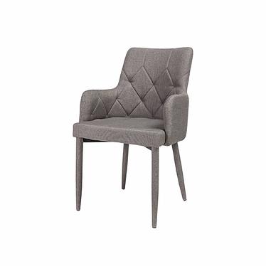 AFFURO Chaise rembourrée grise
