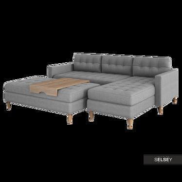 COPENHAGUE Canapé d'angle scandinave réversible avec le pouf