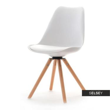 LUIS ROT Chaise pivotante blanche