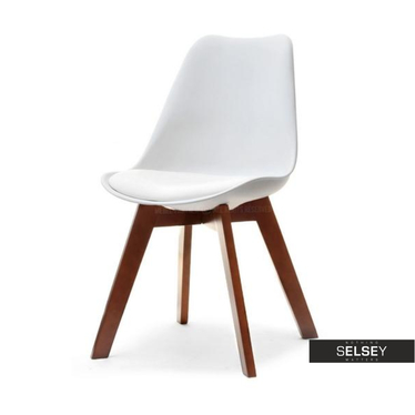 Krzesło Luis wood biały-orzech