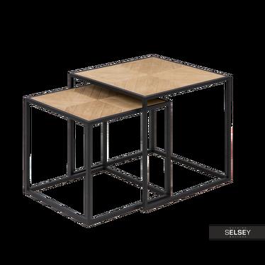 BONOR Lot de 2 tables basses 44x44 cm et 38x38 cm