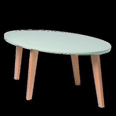 NORNIELLE Table basse scandinave ovale verte