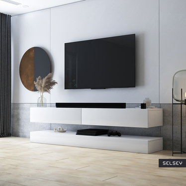 HYLIA Meuble TV suspendu 140 cm