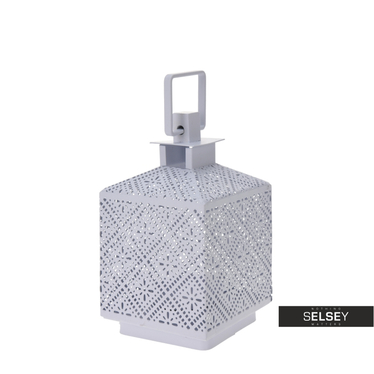 Lanterne métal blanche 13 cm